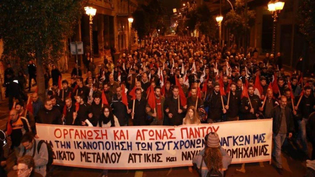 Yunanistan'da işçilerin genel grevi hayatı durma noktasına getirdi