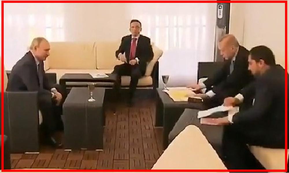 Soçi zirvesinde 'harita' detayı: Putin işaret etti, Erdoğan apar topar kaldırdı