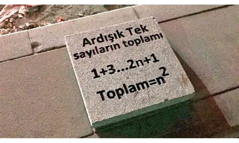 Ankara kaldırımlarında matematik problemleri!