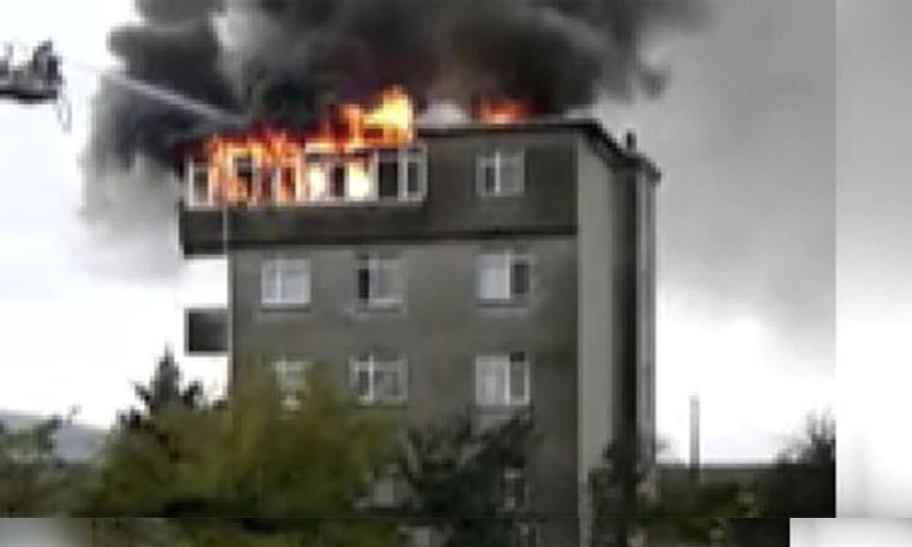 İstanbul Tuzla'da 5 katlı bina böyle yandı!