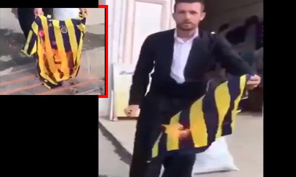 'Barış Pınarı' desteğinin ardından Fenerbahçe formalarının yakıldığı görüntüler ortaya çıktı