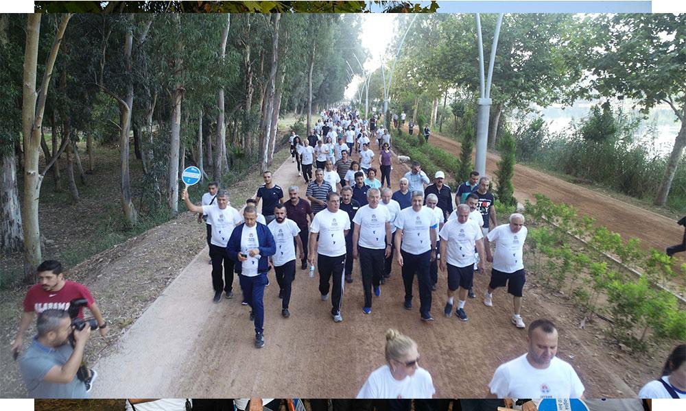 Yaşar Kemal Yürüyüş Parkuru'nda 'Dünya Yürüyüş Günü' etkinliği