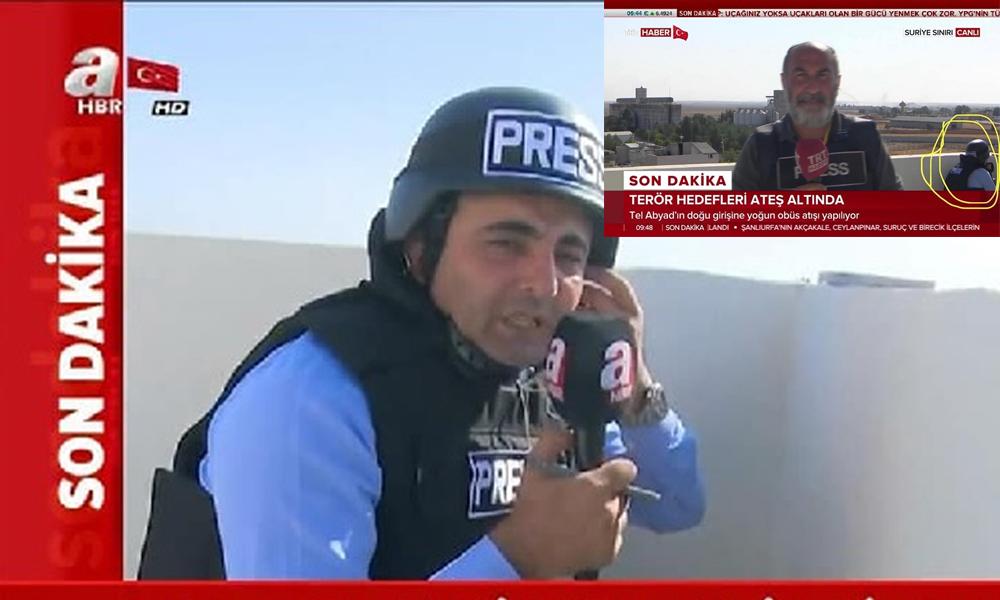 A Haber muhabirinin yalanını TRT muhabiri ortaya çıkardı?