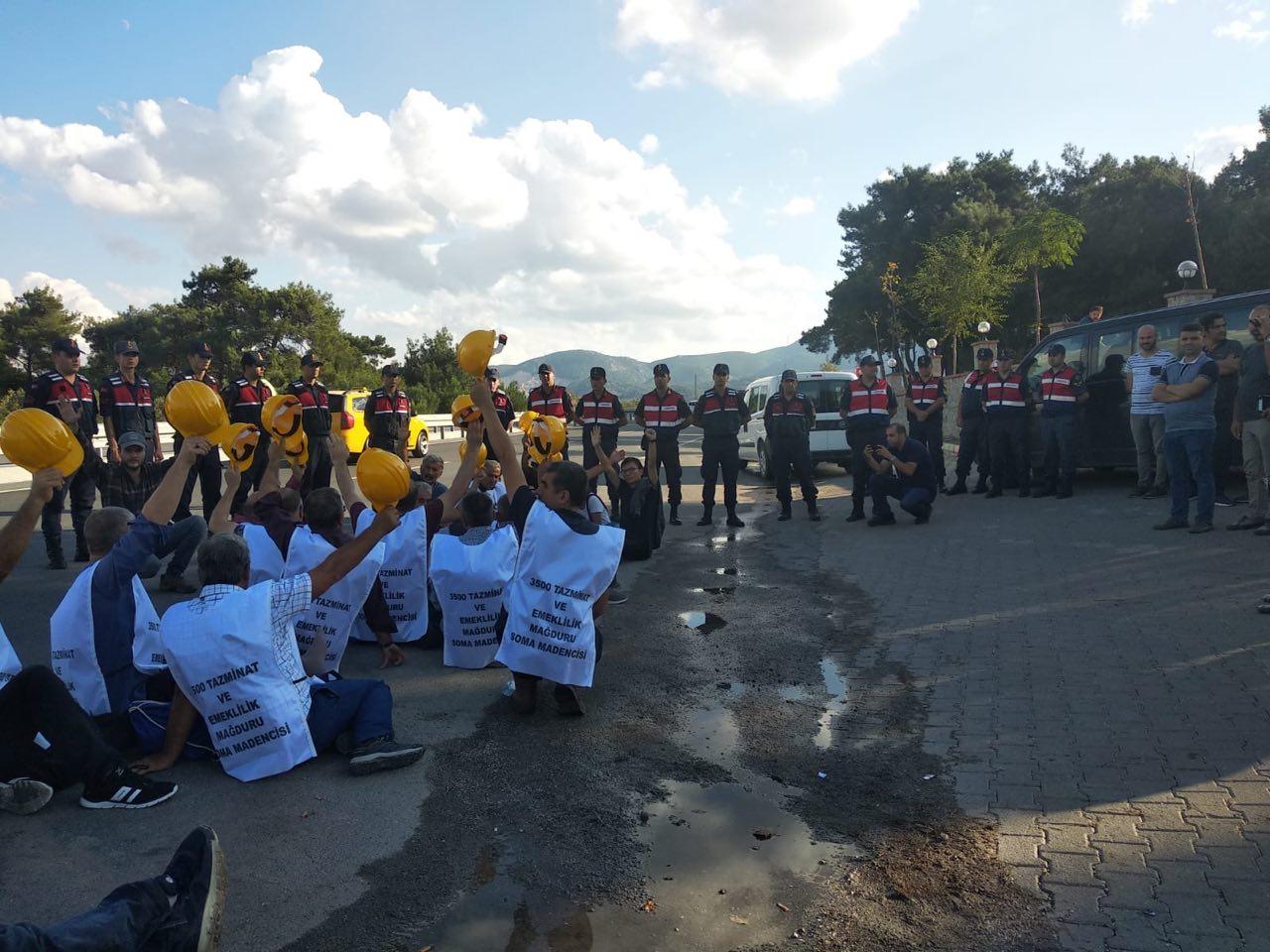 Madencilerin Ankara yürüyüşünün önünü jandarma kesti! Gözaltı tehdidi