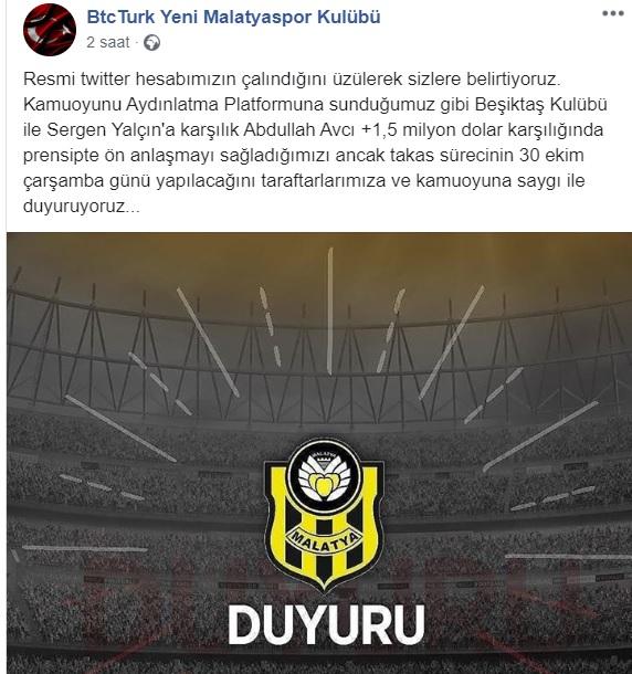 Yeni Malatyaspor'a Sergen Yalçın şoku! Gerçek daha sonra ortaya çıktı