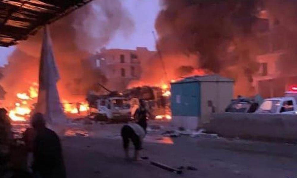 Afrin'de pazar yerine bombalı saldırı! Çok sayıda ölü ve yaralı var…