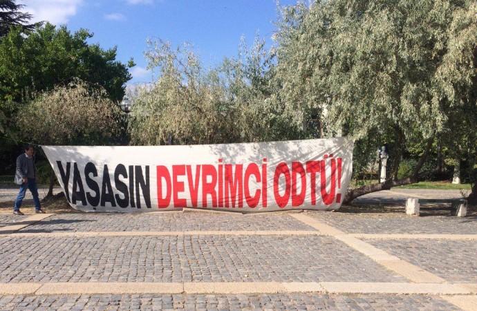ODTÜ'deki provokatif eylem tepkiler üzerine iptal edildi