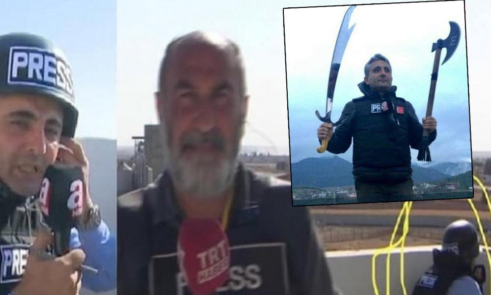 A Haber muhabirinden sınırda bir skandal daha! 'Bunlara basın kartı veren Türkiye…'