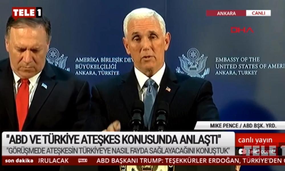 Pence: ABD ve Türkiye ateşkes konusunda anlaştı