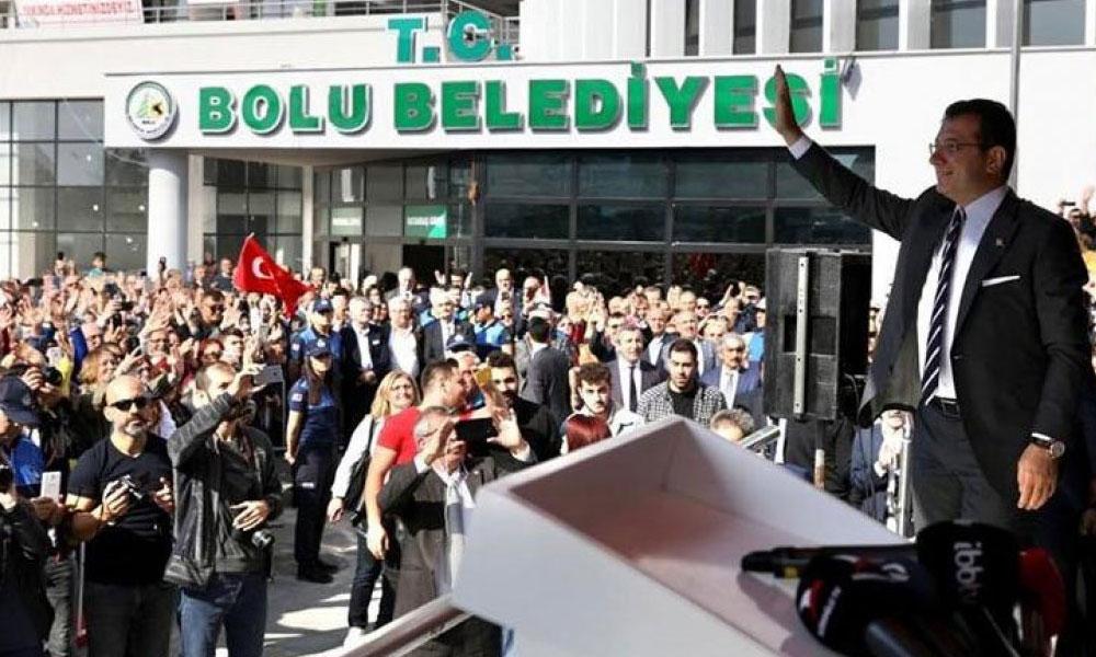 """Bolu'da """"İmamoğlu"""" izdihamı! Ziyaret mitinge dönüştü…"""