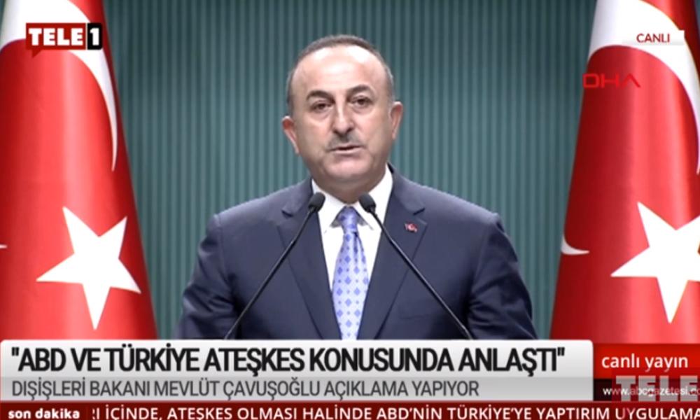 Çavuşoğlu: YPG'nin güvenli bölgeden çıkması için harekata ara veriyoruz