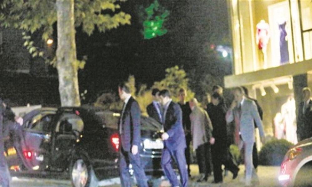 Davutoğlu'na kaldığı otelde gece yarısı sürpriz ziyaret! Görünmemek için arka kapıdan girmişler