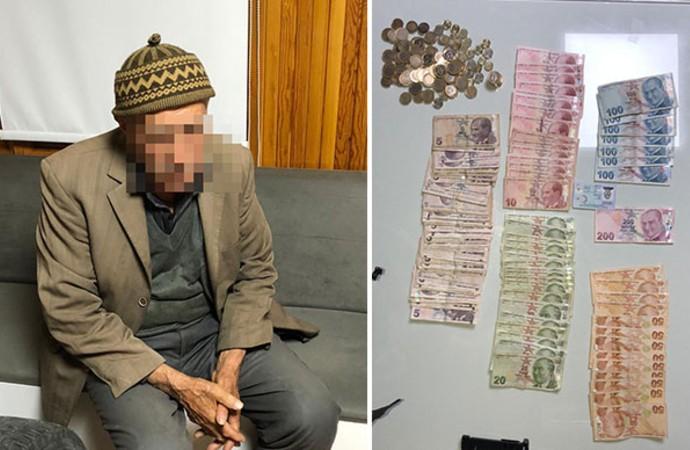 91 yaşındaki dilencinin üzerinden, 2 bin lira para çıktı
