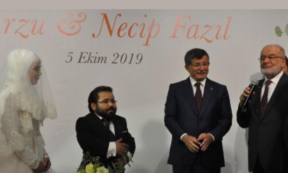 Davutoğlu ve Karamallaoğlu'nu buluşturan nikah töreni