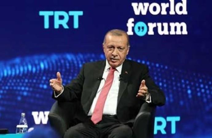 Erdoğan TRT World Forumu'na katılmayanları hedef gösterdi: Terör örgütlerine destek verdiklerini düşünüyorum