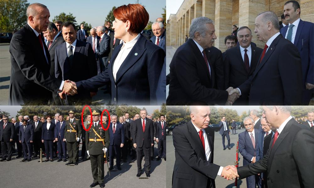 'Kucaklaşalım' diyordu… Partili cumhurbaşkanı Erdoğan'dan Anıtkabir'deki törende tepki çeken hareket!