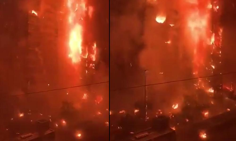 Şili'de protestolar devam ediyor |  Zamlara isyan eden halk elektrik şirketinin gökdelenini ateşe verdi
