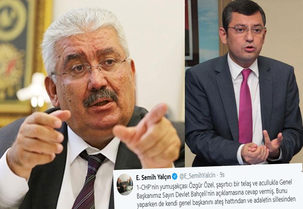 """Semih Yalçın'ın """"CHP'nin yumuşakçası"""" açıklamasıyla MHP ve CHP arasında tansiyon yükseldi"""