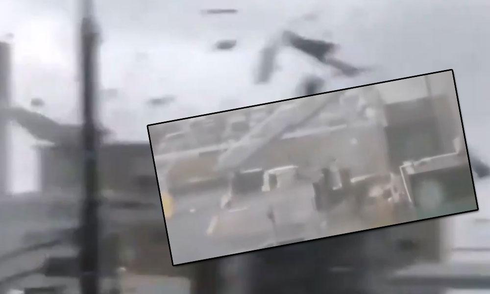 Japonya'da süper tayfun felaketi! Otomobiller uçtu