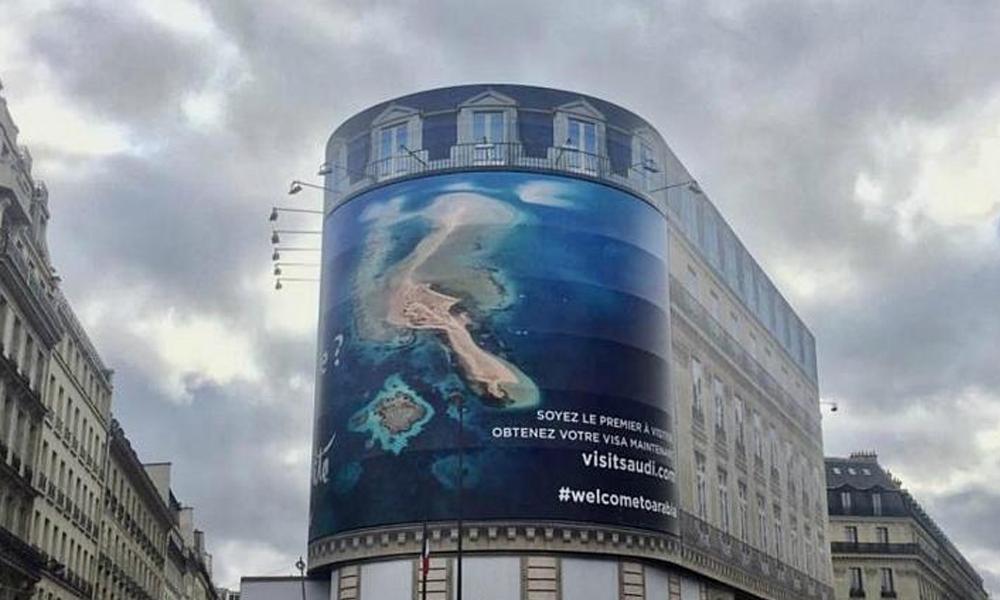 Suudiler'in reklam panosu, Paris'i karıştırdı: İnsanlık onuruna hakaret…