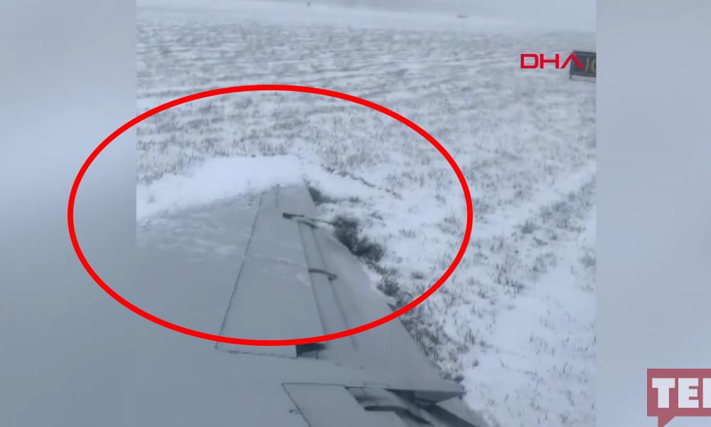 Yolcu uçağı pistten çıktı! İşte o görüntüler
