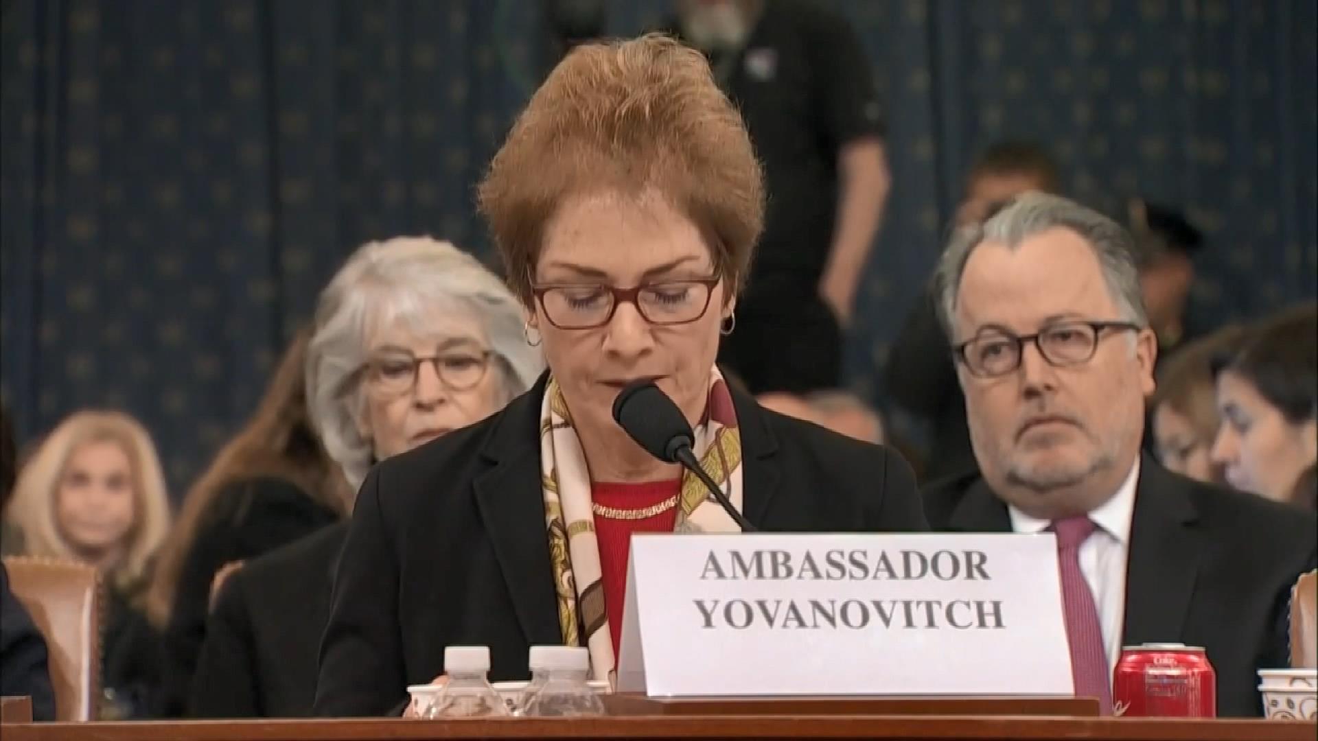 Trump'ın azil soruşturmasının ikinci gününde Yovanovitch ifade verdi