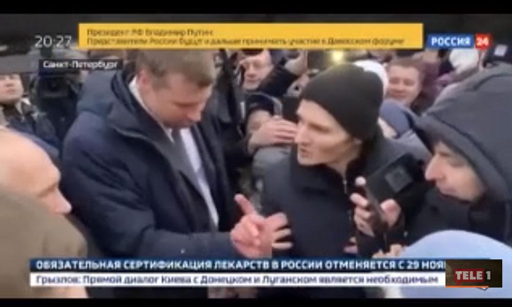 Putin'in zor anları! Aniden kameraların önüne atıldı