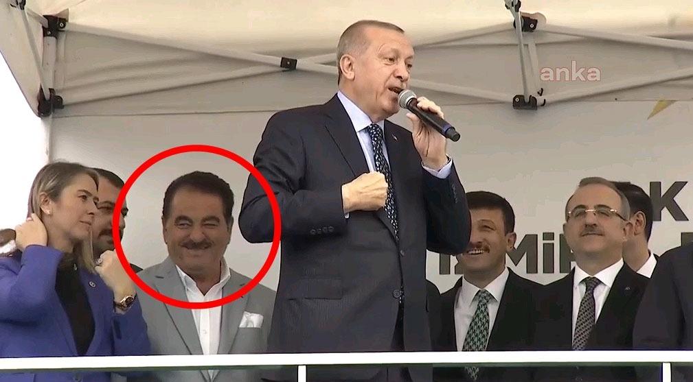 Erdoğan, Kılıçdaroğlu'na hakaret ederken İbrahim Tatlıses sırıttı