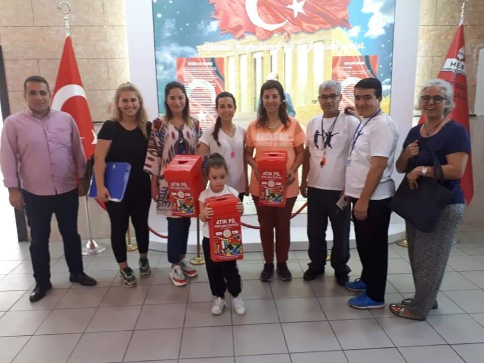 Öğrencilere yönelik ödüllü atık pil toplama yarışması yapılıyor