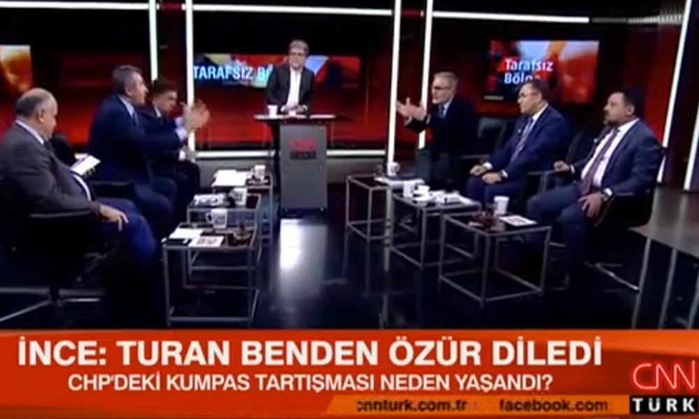 CHP tartışması CNN Türk'ü canlı yayınını karıştırdı: Necdet Saraç Hadi Özışık'a 'ince ayar' verdi!