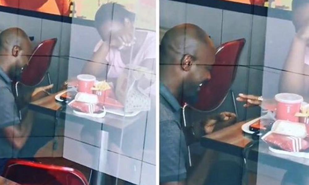 KFC'de evlilik teklifinde bulundu, tüm borçları silindi