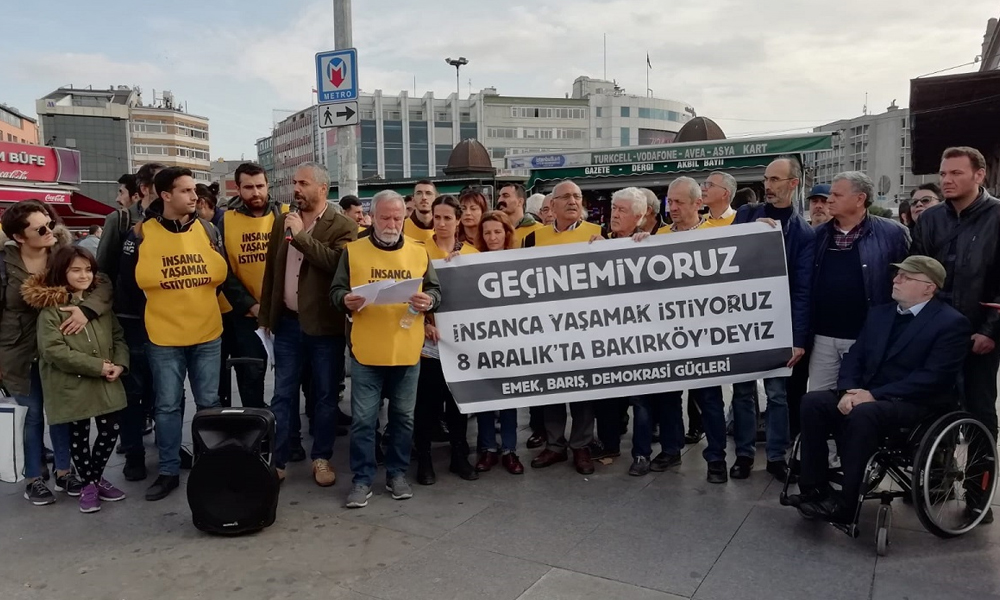 """İstanbul Emek, Barış ve Demokrasi Güçleri'nden """"İnsanca yaşamak istiyoruz"""" mitingi"""