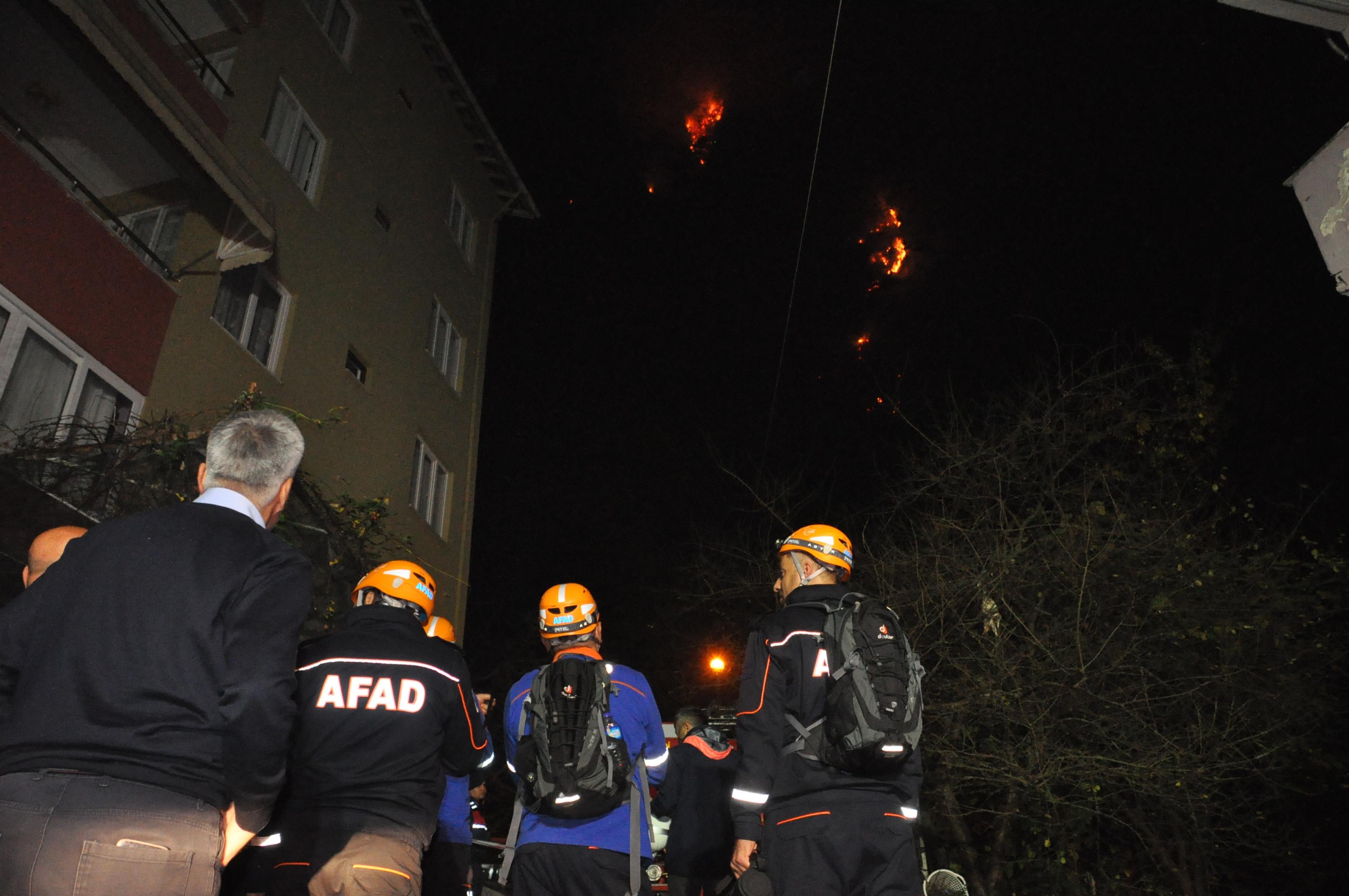 Bartın'da orman yangını! Yedi ev boşaltıldı…