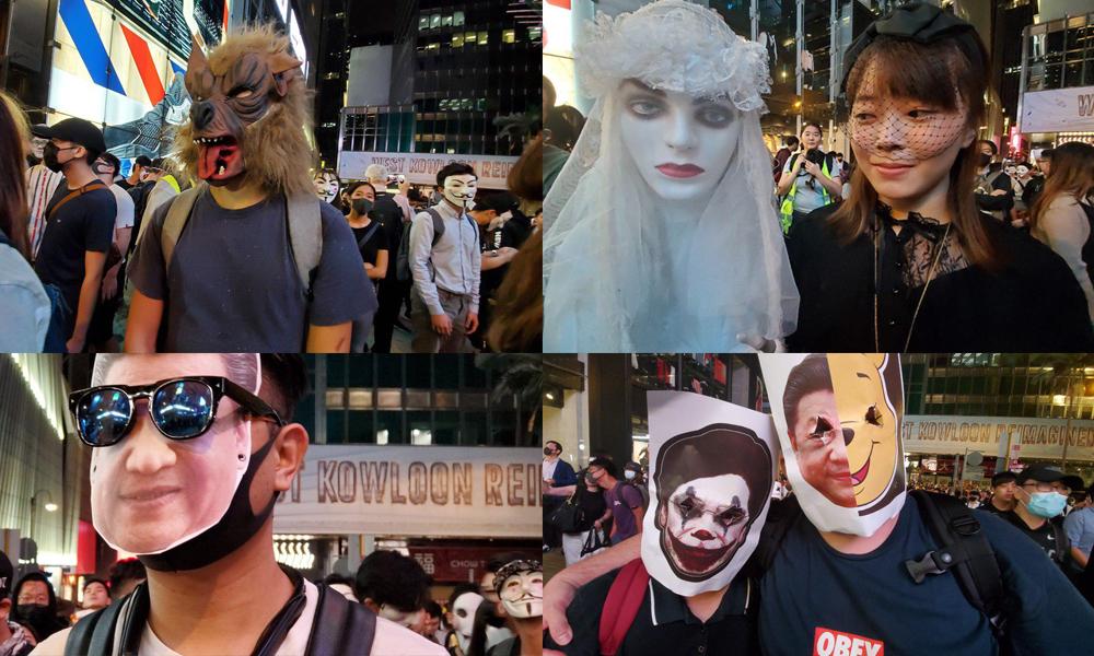 Protestolar 'Cadılar Bayramı' ile birleşti, ortaya bu görüntüler çıktı