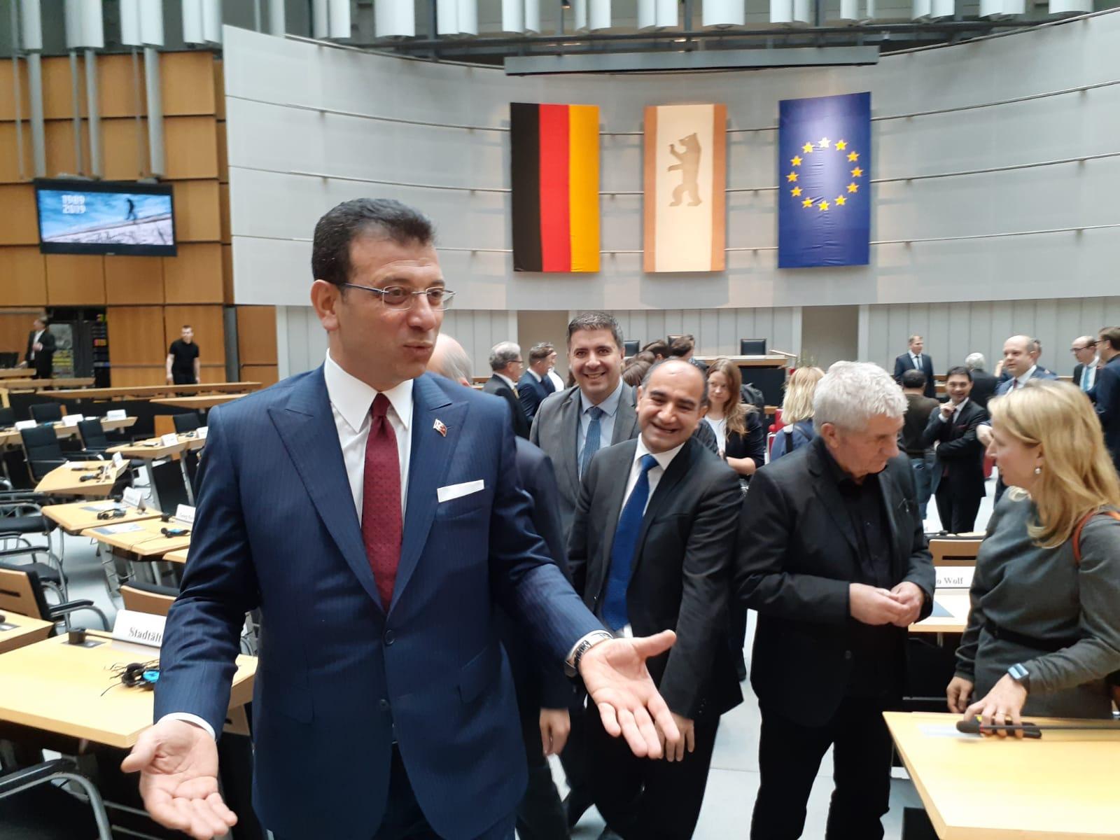 İmamoğlu, Berlin Eyalet Meclisi'nde konuştu: Yıkılacak daha çok duvar var