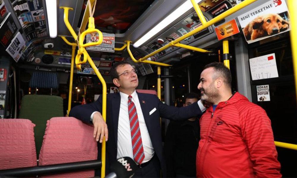 Ekrem İmamoğlu'nu duygulandıran minibüs şoförü!
