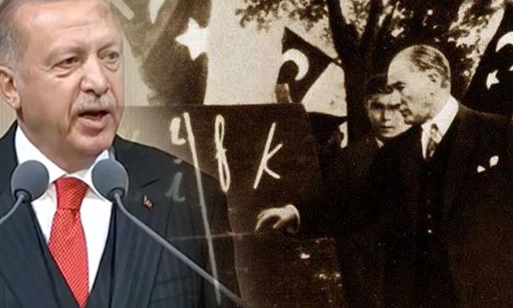 Atatürk'ü anma töreninde konuşan Erdoğan, 'harf devriminde okuma-yazma oranı düştü' dedi… Peki gerçek ne?