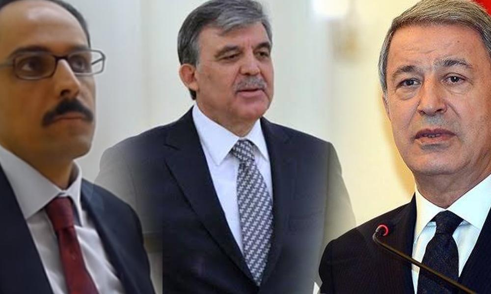 Hulusi Akar ve İbrahim Kalın'ın kendisiyle görüştüğü iddiasına Abdullah Gül'den yanıt