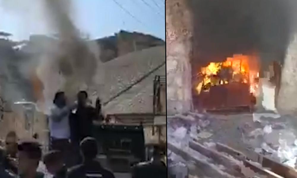 Hasankeyf'teki yıkıma isyan eden vatandaş, iş yerini içindekilerle birlikte ateşe verdi