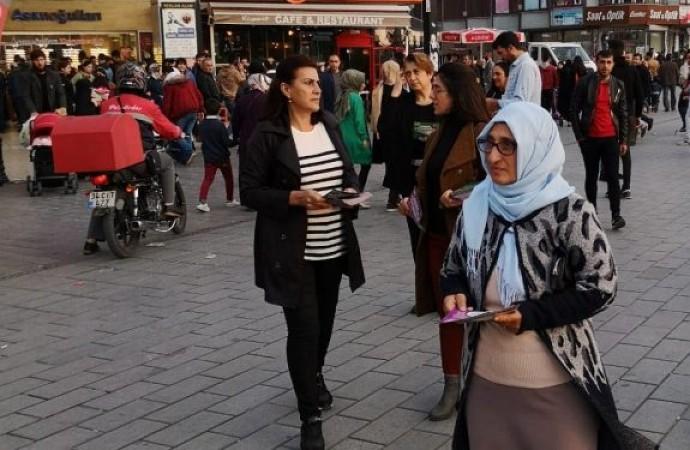 Kadına şiddete karşı bildiri dağıtmak suç oldu! HDP Esenyurt ilçe başkanının da aralarında olduğu 7 kişi tutuklandı