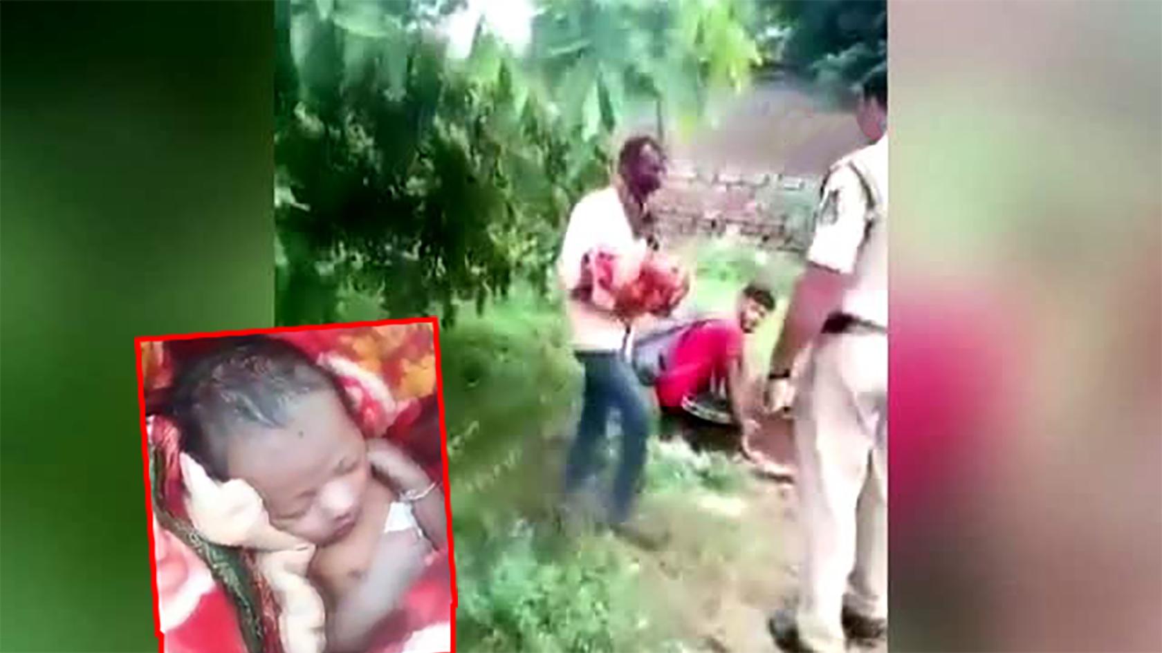 Akıl almaz olay! Kız bebeği diri diri gömmeye çalışan dede suçüstü yakalandı