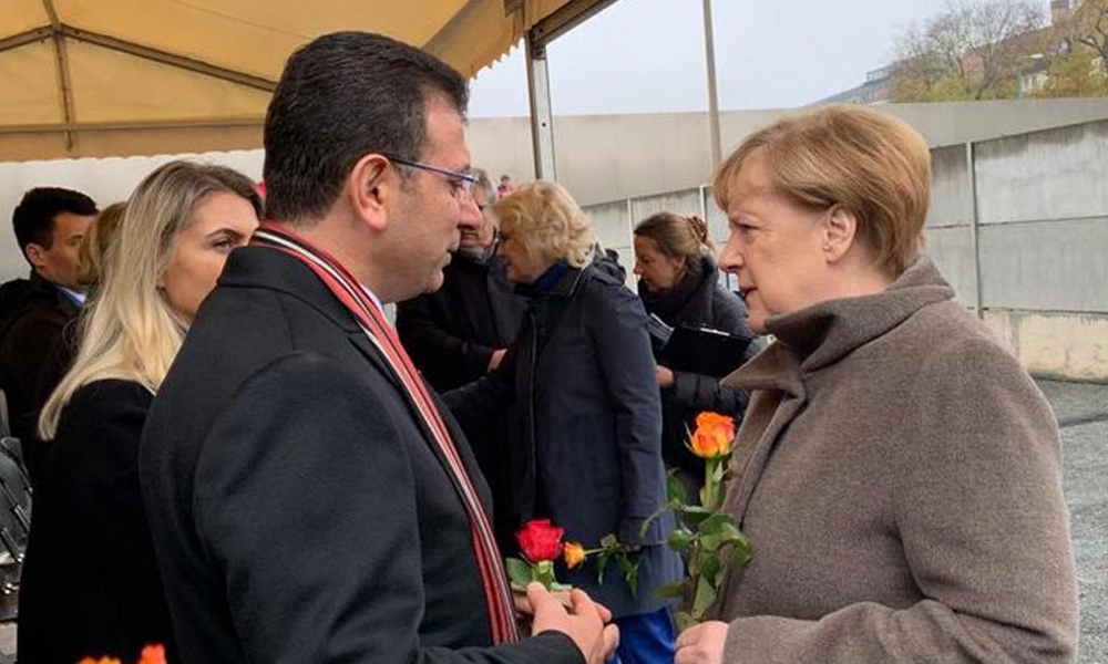 İmamoğlu, Merkel ile bir araya geldi