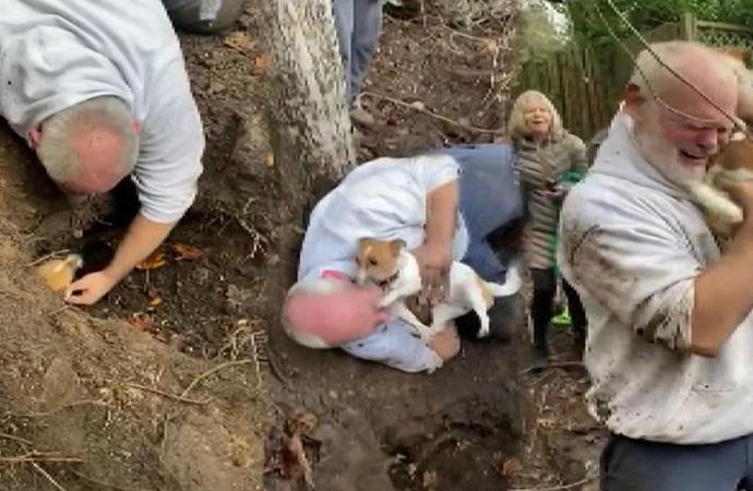 Kaybolan köpeğine kavuşan adam gözyaşlarını tutamadı