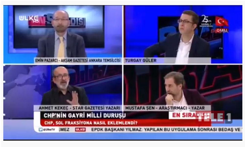 Canlı yayında, yandaş Ahmet Kekeç'ten Alevi kökenli CHP'liler hakkında çirkin sözler!