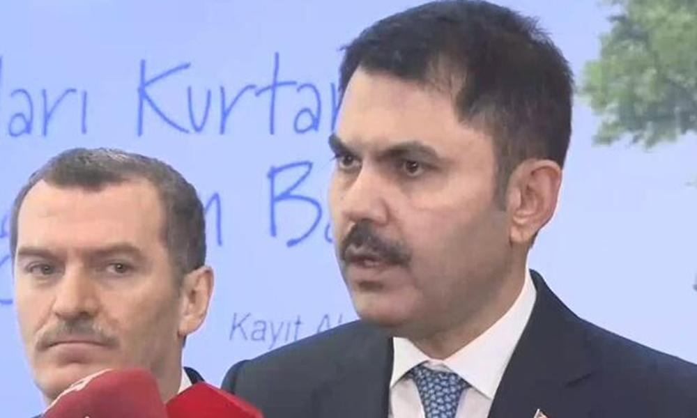 Çevre ve Şehircilik Bakanı Kurum'dan Saray'a bağlanan 'İstanbul boğazı' hakkında açıklama