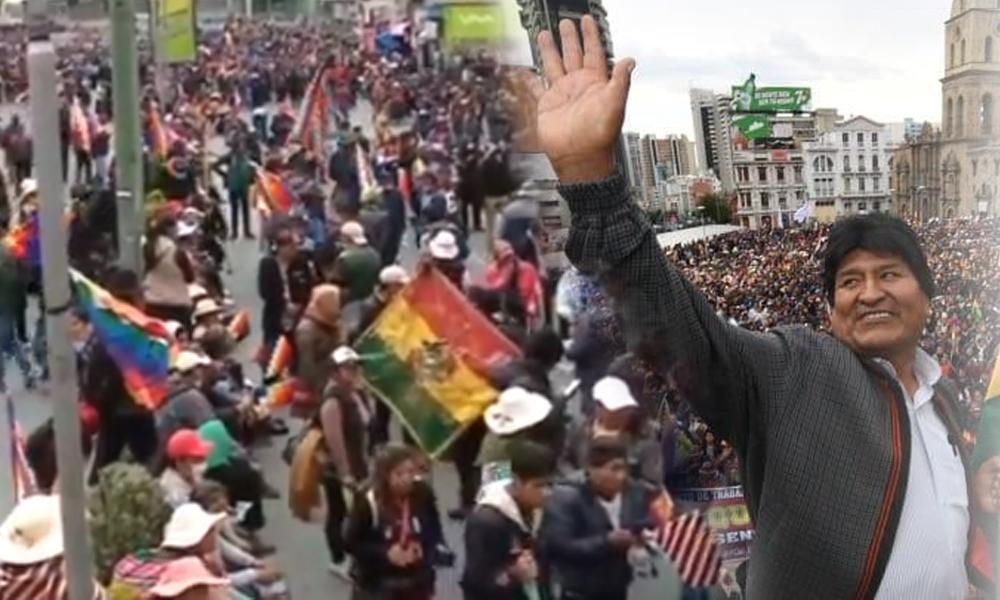 Bolivya halkı Morales için sokağa çıktı: 'Kendisini devlet başkanı ilan eden Jeanine Anez istifa etsin'