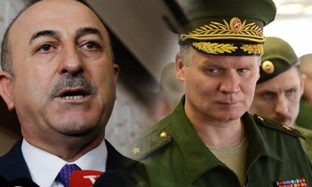Rusya'dan Çavuşoğlu'na tepki: Tehdidi şaşkınlıkla karşıladık