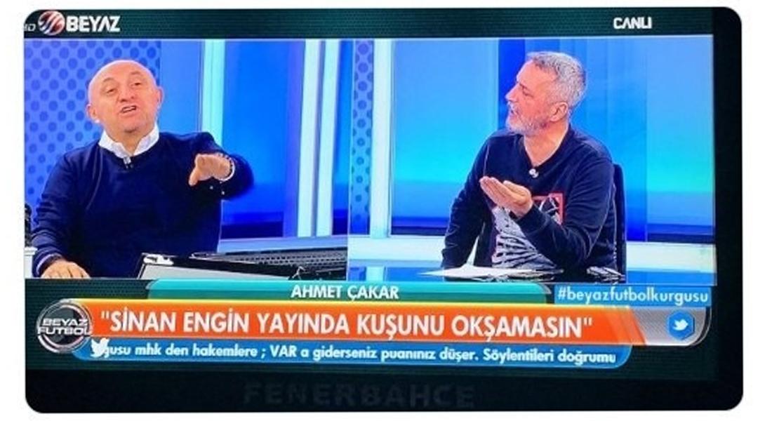 'Sinan Engin yayında kuşunu okşamasın' altyazısına tepki yağıyor!