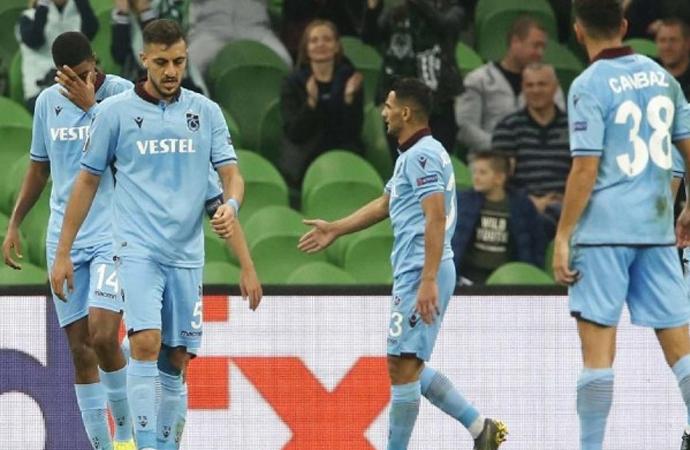 Trabzonspor'un Avrupa defteri kapandı: 1-3