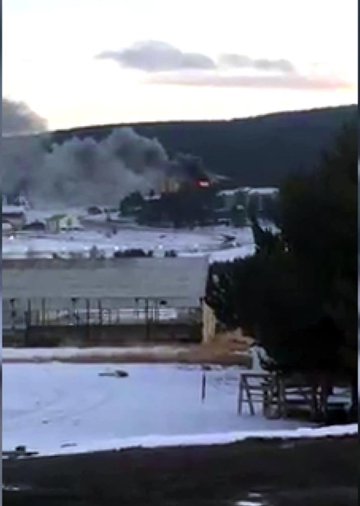 Sarıkamış Kayak Merkezi'nde yangın paniği!